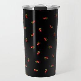 Dark Delicate Cherry Travel Mug