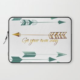 Go your own way Laptop Sleeve