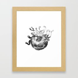 Beholder (Black & White) Framed Art Print