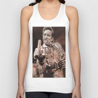 johnny cash Tank Tops featuring Johnny Cash by Ray Stephenson