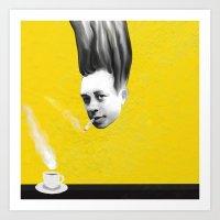 camus Art Prints featuring Albert Camus by Zmudart