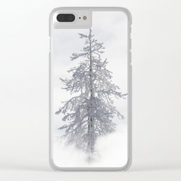 Yellowstone National Park - Ice Covered Tree Clear iPhone Case