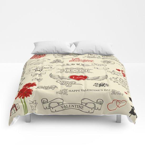 Happy Valentine's Day Comforters