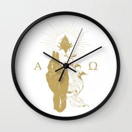 Alpha and Omega Wall Clock