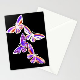 butterfly pattern, with purple and orange, purple butterfly drawing Stationery Cards