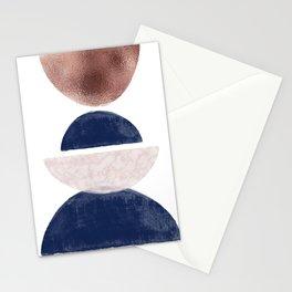 Semicircle Geometric II Art Print Stationery Cards