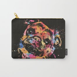 Pastel Paint Pug dog Carry-All Pouch