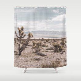 Vintage Desert Hombre // Cactus Cowboy Mojave Landscape Photograph Sunshine Hippie Mountain Decor Shower Curtain