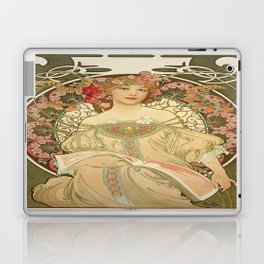 Vintage poster - Woman with flowers Laptop & iPad Skin