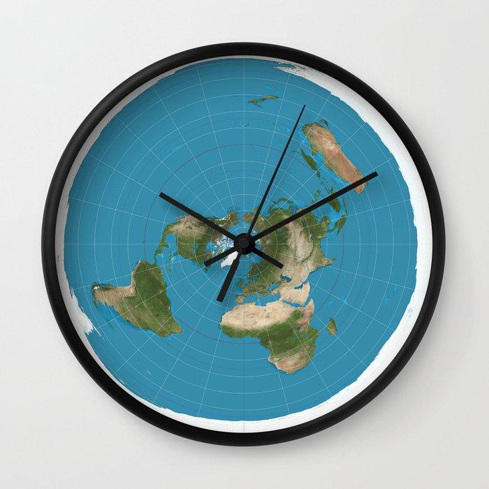Flat Earth Map Wall Clock By Jacklarson Society6