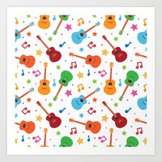 Guitars and Stars Art Print
