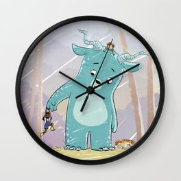 Friendly Creature Wall Clock