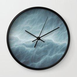 Where Thunder Greets The Cloudy Sea Wall Clock