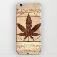 marijuana iPhone & iPod Skins featuring vitruvian marijuana by Emekli Astronot
