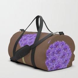 Flowerpower - Purple Flower Ball - Society6# #buyart Duffle Bag