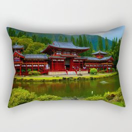 Temple Valley Buddah 3 ... By LadyShalene Rectangular Pillow