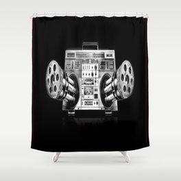 Ghetto Blaster Shower Curtain