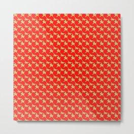NAMAKEMONO : red seamless pattern Metal Print