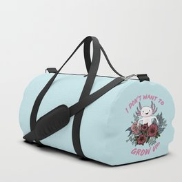 I don't want to grow up - cute axolotl Duffle Bag
