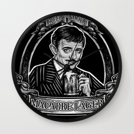 Macabre Lager Wall Clock