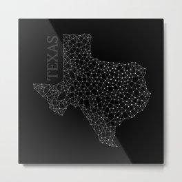 Texas LineCity B Metal Print