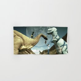 Dinosaur Road Trip Hand & Bath Towel