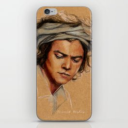 H tan paper iPhone Skin