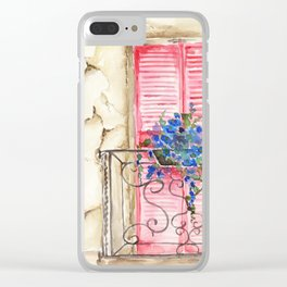 Balcony in France Clear iPhone Case