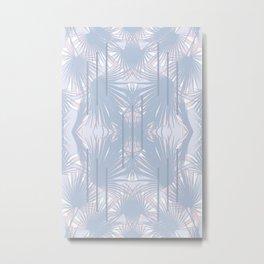 Tropical Art Deco Pattern - Pastel blue and pink Metal Print