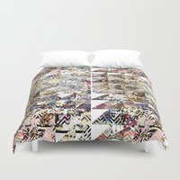 newspaper Duvet Covers featuring Newspaper by FakeFred