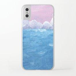 'Ocean Landscape' Clear iPhone Case