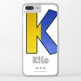 Kilo - Navy Code Clear iPhone Case
