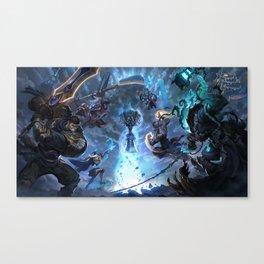 Worlds 2017 Promo Garen Wukong Ashe Ziggs Lee Sin Thresh Wallpaper Background Official Art Artwork Canvas Print