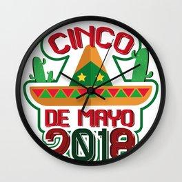 Cinco De Mayo 2018 Celebration Funny Wall Clock