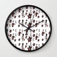 pirates Wall Clocks featuring Pirates by Joe Pugilist Design