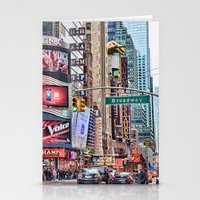 broadway Stationery Cards featuring Broadway, NYC by June Marie