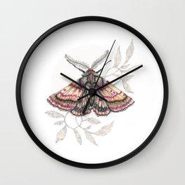 inktober moth Wall Clock