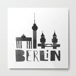 Berlin (Calligraphy Art) Metal Print