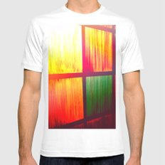 Stain Glass MEDIUM Mens Fitted Tee White