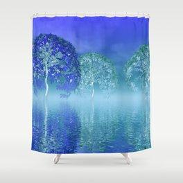 tree art -4- Shower Curtain