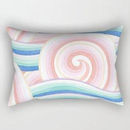 Pastel Auspicious Waves Rectangular Pillow