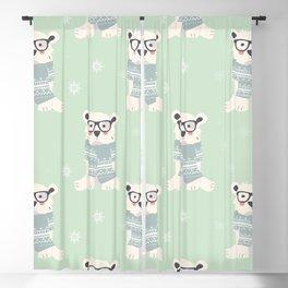 Polar bear pattern 003 Blackout Curtain