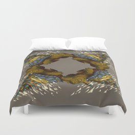 Monster of the Week: Walking Cities of Bas (Mirror) Duvet Cover