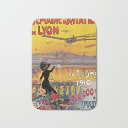 1910 Aviation week Lyon France Bath Mat