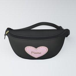 I Love Piano Simple Heart Design Fanny Pack