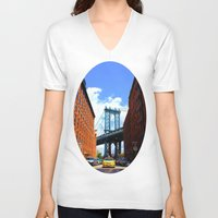 bridge V-neck T-shirts featuring Bridge by Brown Eyed Lady