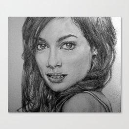 Rosario Dawson Portrait  Canvas Print