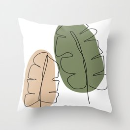Minimal foliage Throw Pillow