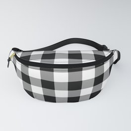Black and White Country Buffalo check Fanny Pack