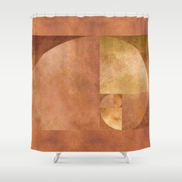 Golden Ratio, Golden Spiral Art Shower Curtain